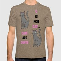 C Is For Cat... Mens Fitted Tee Tri-Coffee SMALL