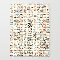 2012 Calendar // 366 Day… Canvas Print
