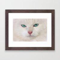 WHITE DELIGHT Framed Art Print