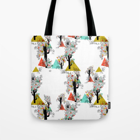 Tree Triangles Tote Bag