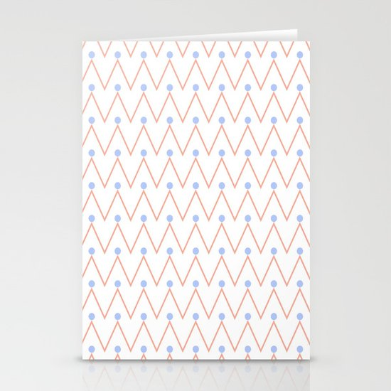 Chevron and dots 2 Stationery Card