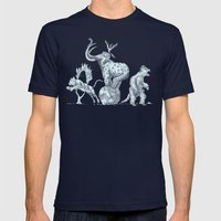 Prehistoric Circus Mens Fitted Tee Navy SMALL