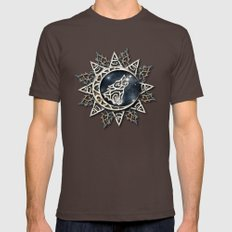 Wolf Emblem Mens Fitted Tee Brown SMALL