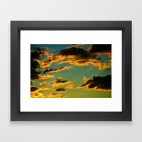 My Vintage Sky Framed Art Print