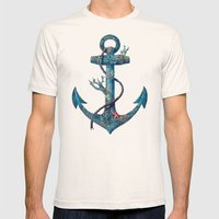 Lost at Sea Mens Fitted Tee Natural SMALL