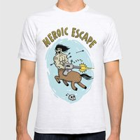 Heroic Escape Mens Fitted Tee Ash Grey SMALL