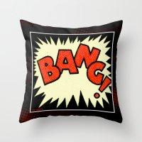 BANG BANG BABY Throw Pillow