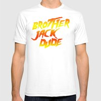 Brother Jack Dude Mens Fitted Tee White SMALL