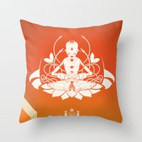 Opening The Higher State… Throw Pillow