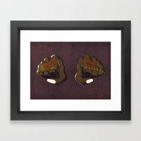 LoveHate Framed Art Print