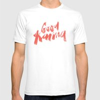 Good Karma Mens Fitted Tee White SMALL