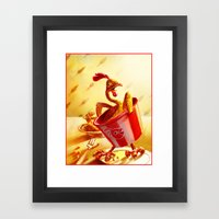 Bucket of Chicken Framed Art Print