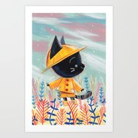 Raincoat 1 Art Print
