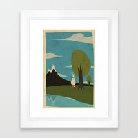 Yeti hearts bunny Framed Art Print