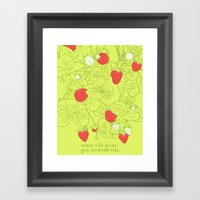 When Life Gives You Stra… Framed Art Print