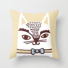 Katze #3 Throw Pillow