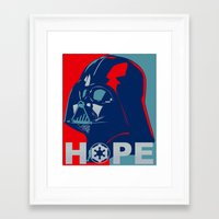 Framed Art Print featuring Darth Vader 2016 by dTydlacka