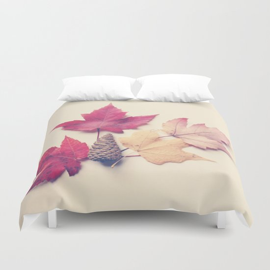 Red Maple Leaf Collection Duvet Cover