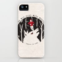 iPhone 5s & iPhone 5 Cases featuring Sterek: He Who Runs With Wolves by Kazefer