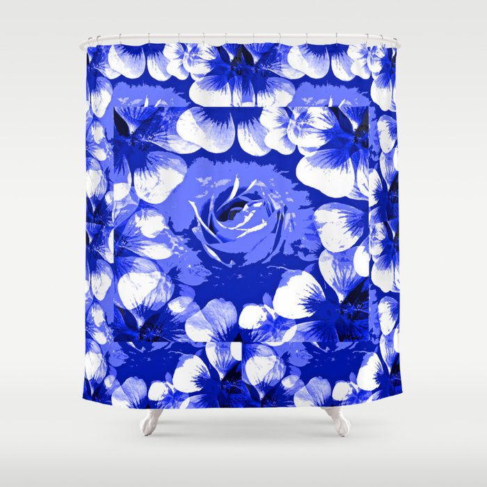 Roses Blue And White Toile 2 Shower Curtain By Saundra Myles Society6