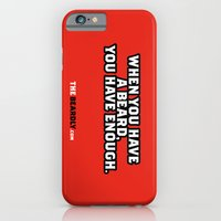 iPhone & iPod Case featuring WHEN YOU HAVE A BEARD, YOU HAVE ENOUGH. by The Beardly
