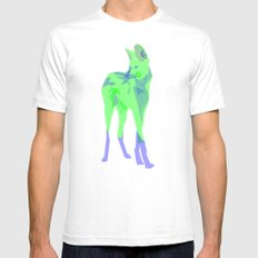 Maned Wolf Mens Fitted Tee SMALL White