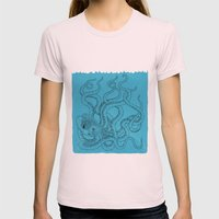 Octopus Womens Fitted Tee Light Pink SMALL