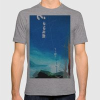 Where? Mens Fitted Tee Athletic Grey SMALL
