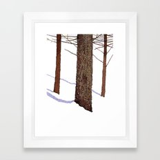 Winter Trees Framed Art Print