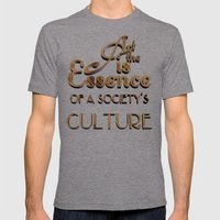 Art Is The Essence Of A … Mens Fitted Tee Tri-Grey SMALL