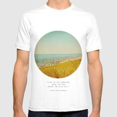 The Last Days of Summer White Mens Fitted Tee SMALL