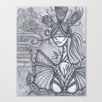 Blind Sensibility (Sketc… Canvas Print