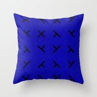 Hidden X Throw Pillow