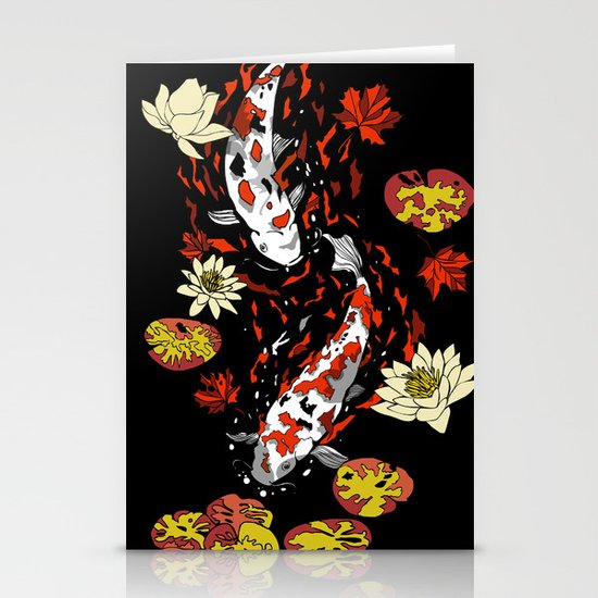 FALLING FISHES Stationery Card