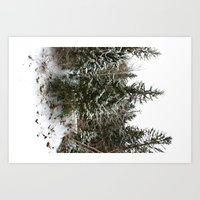 French Alps Trees Art Print