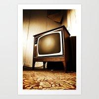 Vintage Television Art Print