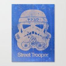 BEAST Street Trooper Head (Black on Cardboard) Canvas Print