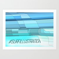 Surf Illustration Art Print