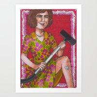 Domestic Goddess Art Print