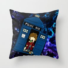 Tardis in space Doctor Who 4 Throw Pillow