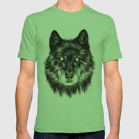 Moon Eyes Mens Fitted Tee Grass SMALL