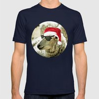 Tis The Season - Sheep Mens Fitted Tee Navy SMALL