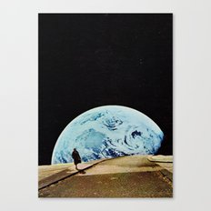 Moon walking Canvas Print