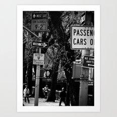 NEW YORK//STREET Art Print