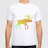 Moose Mens Fitted Tee Ash Grey SMALL