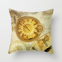 Time Keeps on Slipping.... Throw Pillow