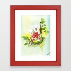 Majong Musing Framed Art Print