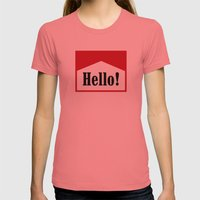 hi Womens Fitted Tee Pomegranate SMALL