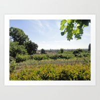 A Conclave's Vineyard Onlooking  The City of Rome Art Print