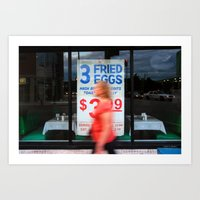 Fried Eggs on Broadway Art Print